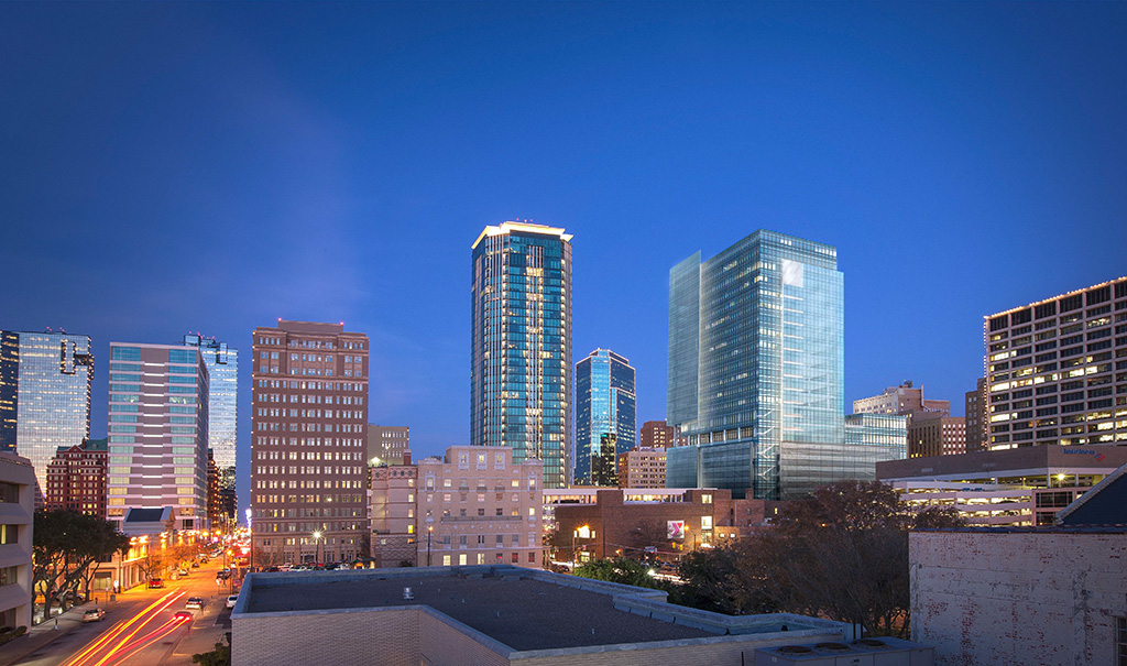 Mullionless Curtain Wall System : Frost tower architecture in fort worth